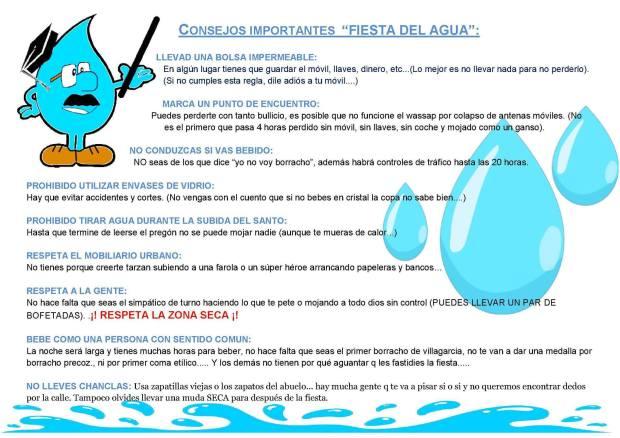 Recomendaciones festa da auga